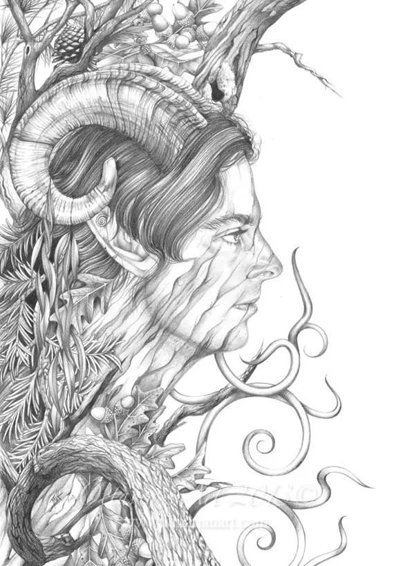 items similar to shaman art  shaman love  tree spirit