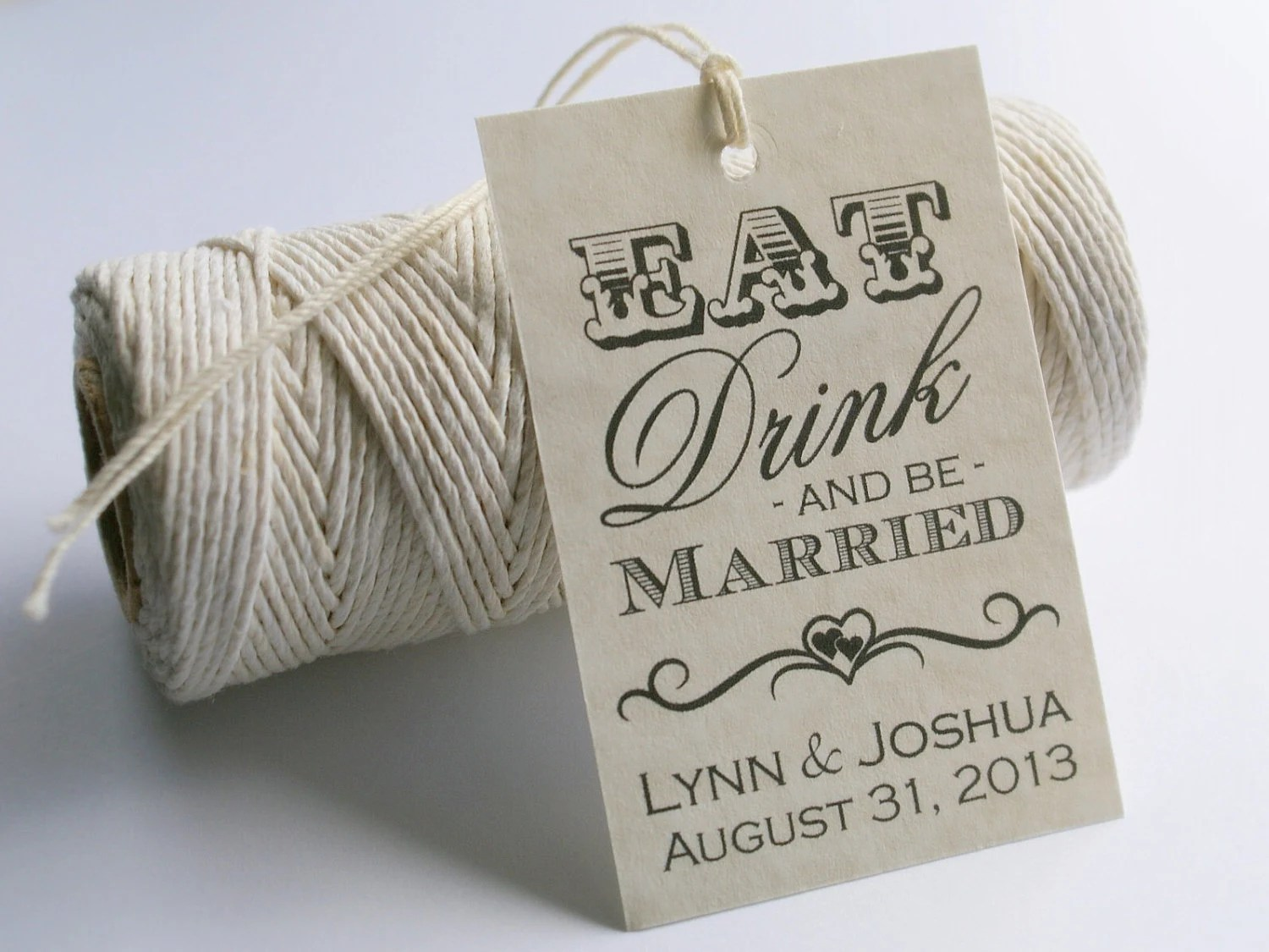 Eat Drink And Be Married Printable Wedding By EventPrintables