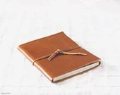 Rust leather journal (large, A5) - handbound leather book - Buntmal