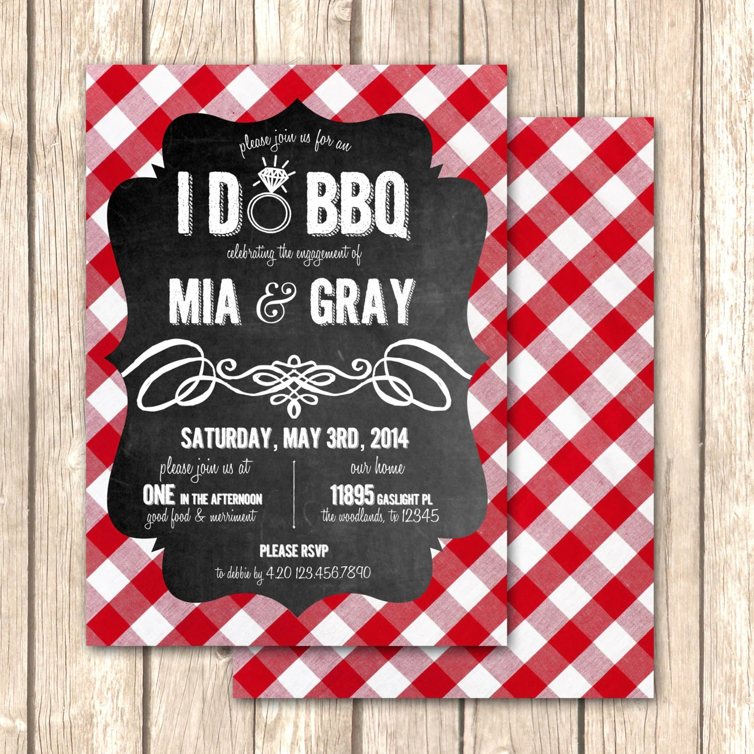 Barbeque Rehearsal Dinner Invitations   www.topsimages.com