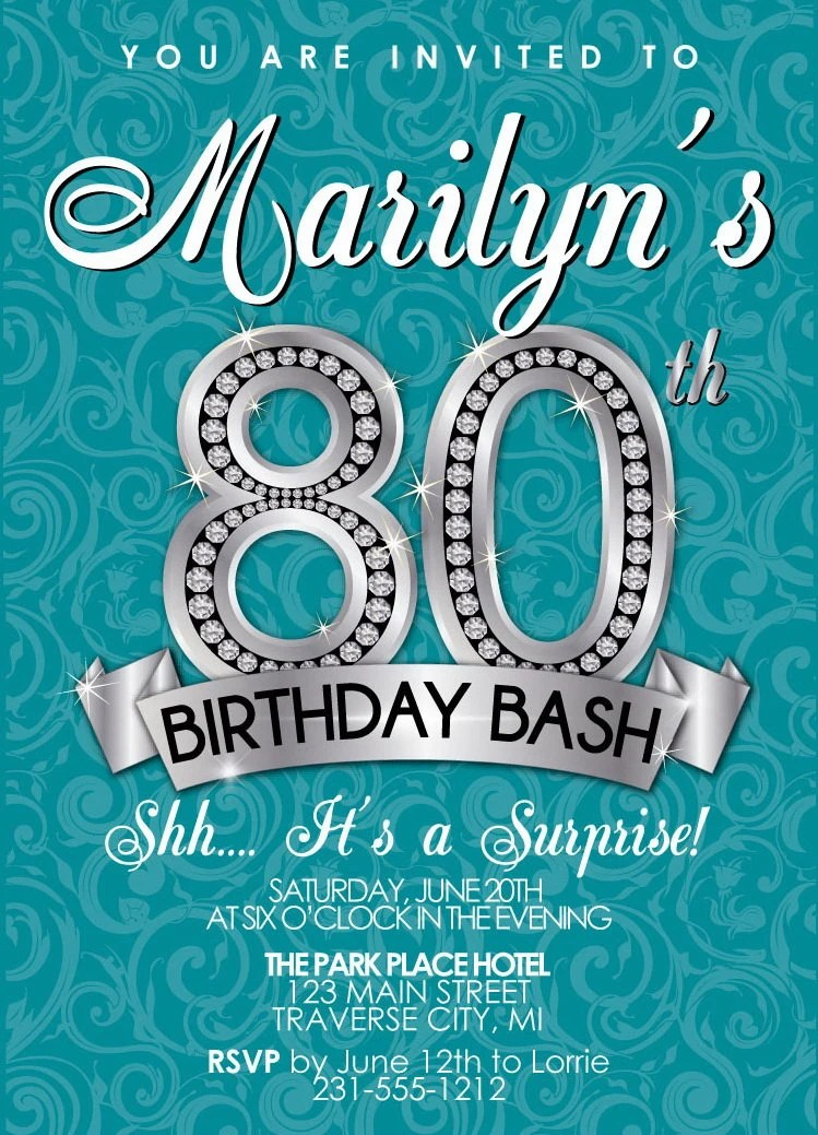 Birthday Invitations 25th