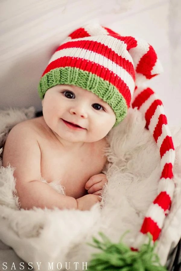 Knit Baby Hat Red White And Blue