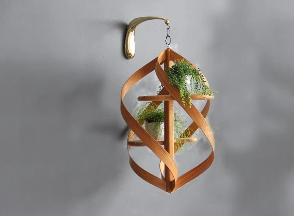 Extra Large Modern Bentwood Hanging Plant Stand on Hanging Stand For Plants  id=38255