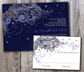 Starry Night Wedding Invitation Sample Set - DesignsbyAdj