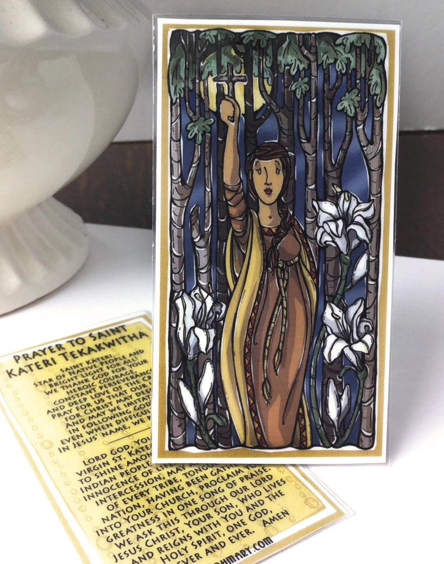 St. Kateri Tekakwitha Prayer Card by ModHMary