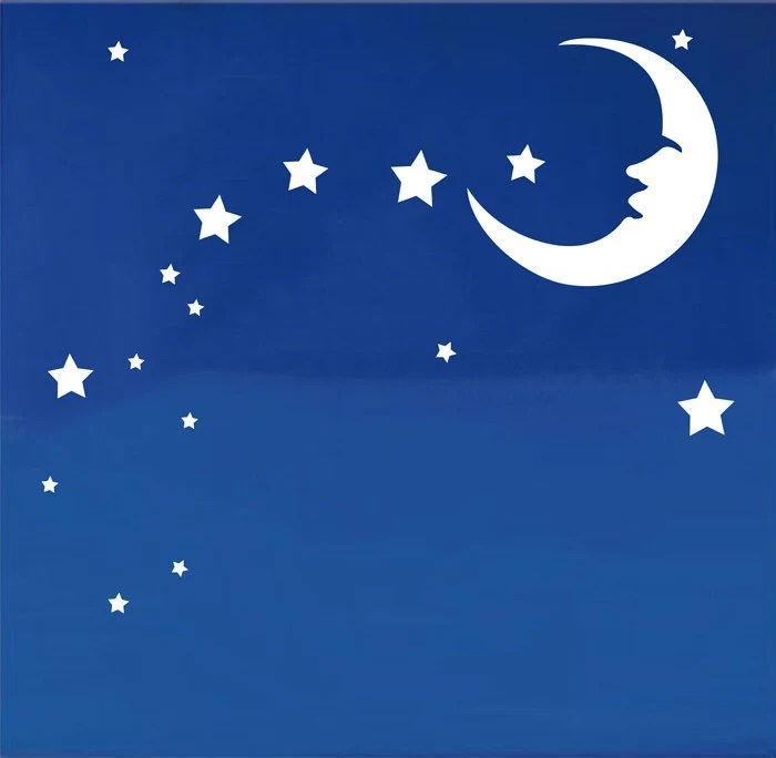 Items Similar To SALE Moon Stars Kids Nursery Art Graphic Vinyl Wall Decals Stickers Home