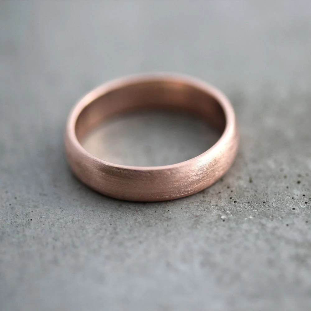 Guy Rose Gold Ring Black
