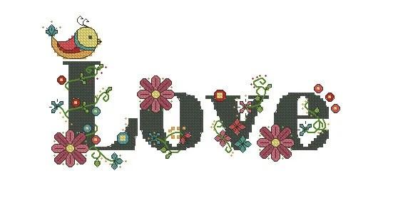 Items Similar To Digital Item Words Cross Stitch Pattern