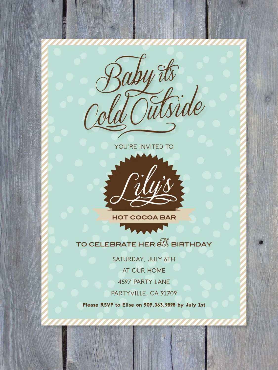 New Baby Party Invitation
