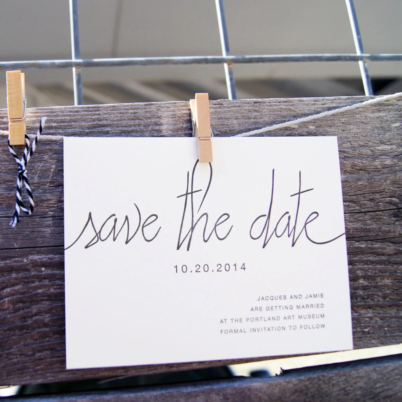 Save Date Cards Letterpress
