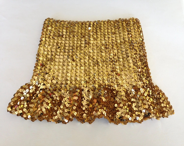 Disco Maven. Golden Sequin Tube Top - AlteredArcheology