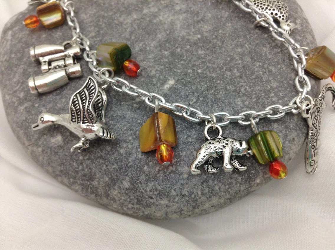 Charm Bracelet - Hunting Themed Charms