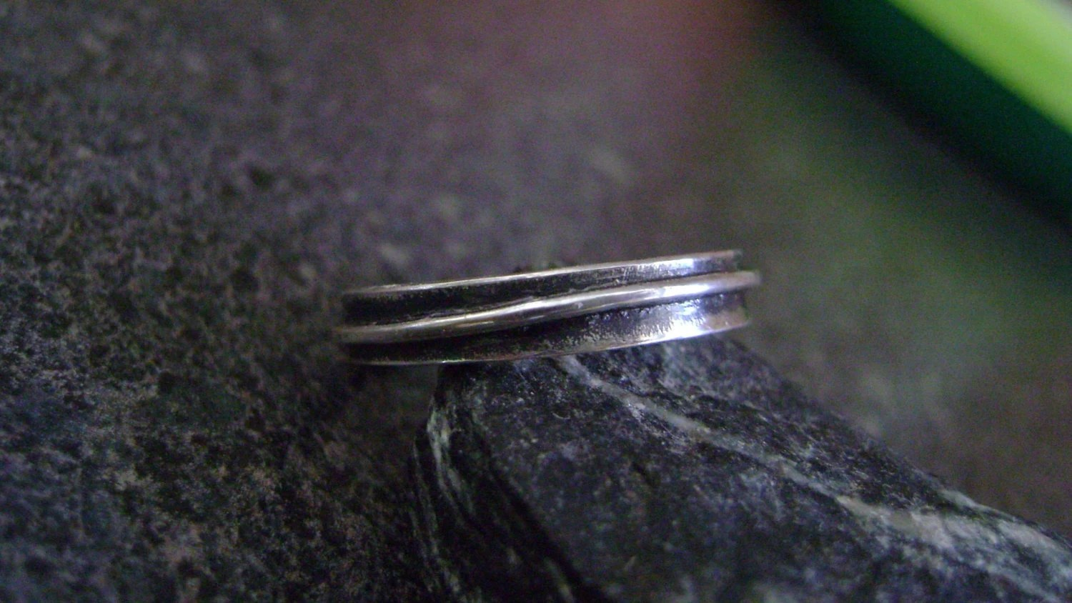 THIN LINE - Wedding Band, Sterling Silver Ring, Artisan Rings, Size 9.25, Wedding Rings, Antiqued Finish Ring - truformjewelry