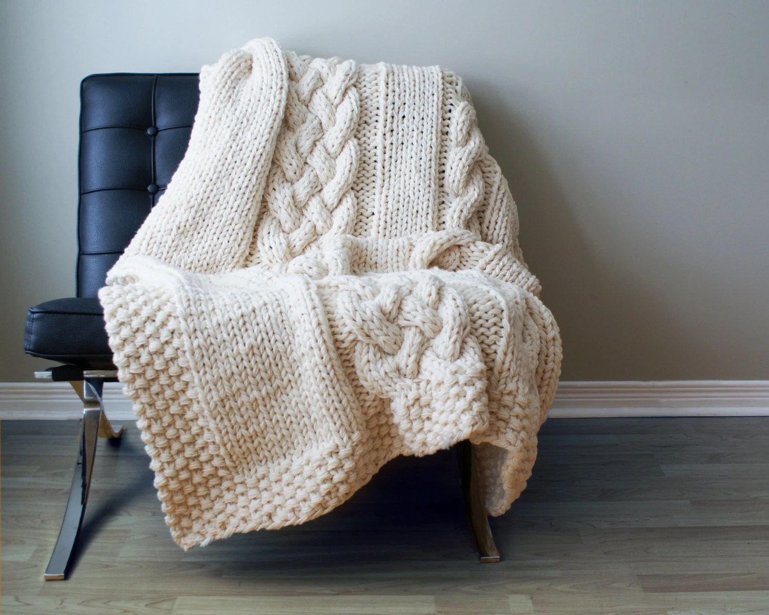 Knitting Pattern Throw Blanket