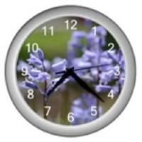 SALE Custom Designed Clock Featuring My Photo of Lavendar Flowers. I Love Custom Orders.