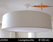 LoungeLamp LEONA � 100 cm pendant lamp canopy and diffuser large sized lamp - GruzdzBerlin