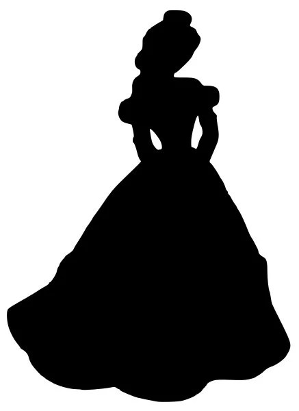 Items Similar To Beauty And The Beast Belle Silhouette