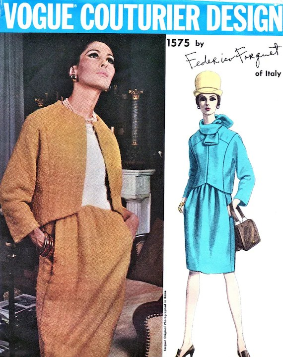 Alberta Tiburzi on a 1960s pattern, Vogue 1575 by Federico Forquet
