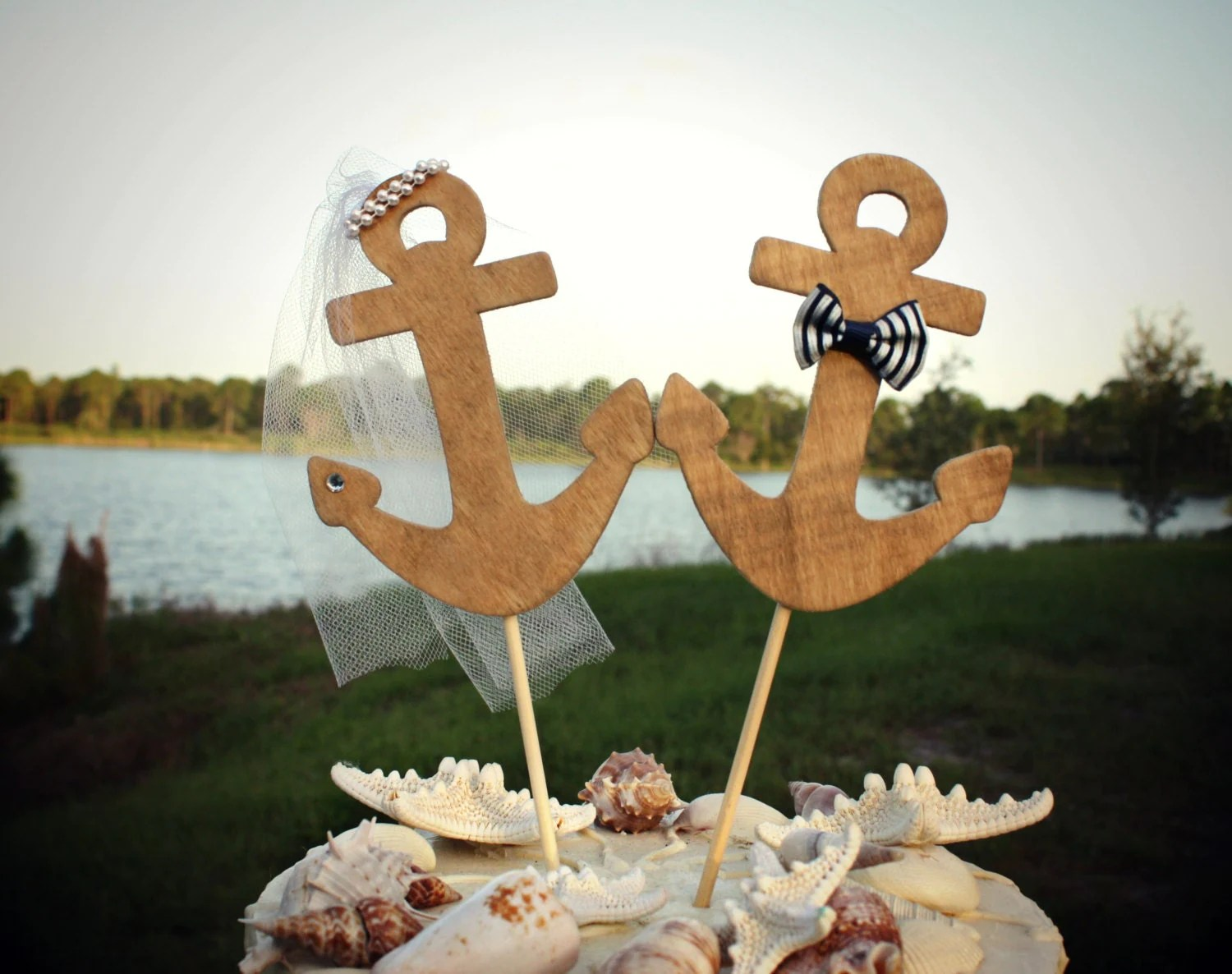 Navy Wedding Anchors Away Wedding Cake Topper Anchors Boat