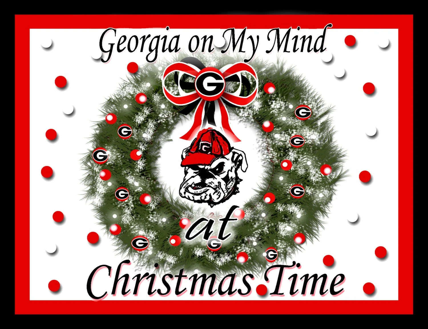 Christmas UGA Georgia Bulldog Christmas Cards
