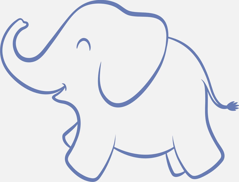 Baby Elephant Nursery Reusable Stencil 8 Sizes Available