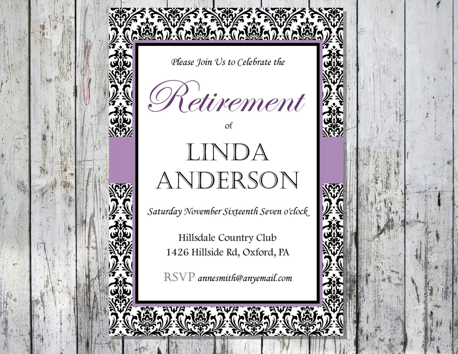 Printable Invitations Retirement