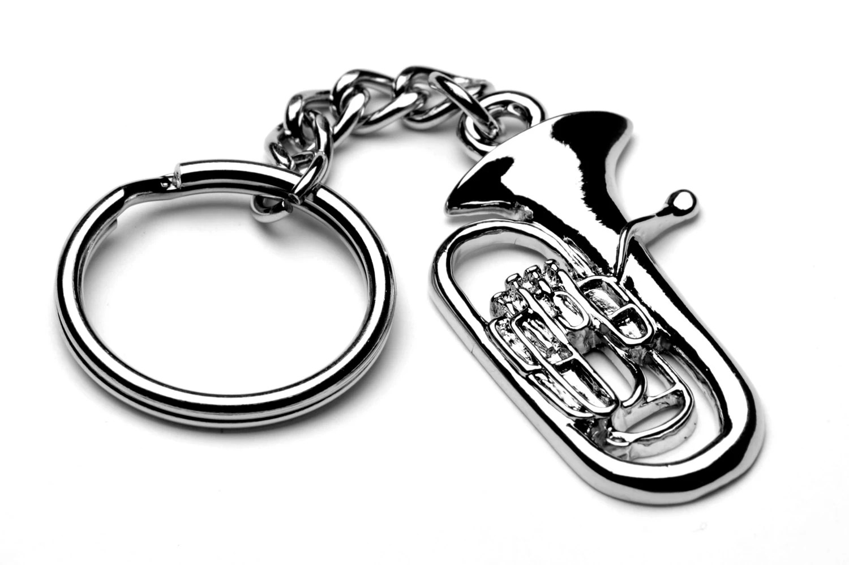 Euphonium Keyring Keychain Unique Brass Band Teacher T