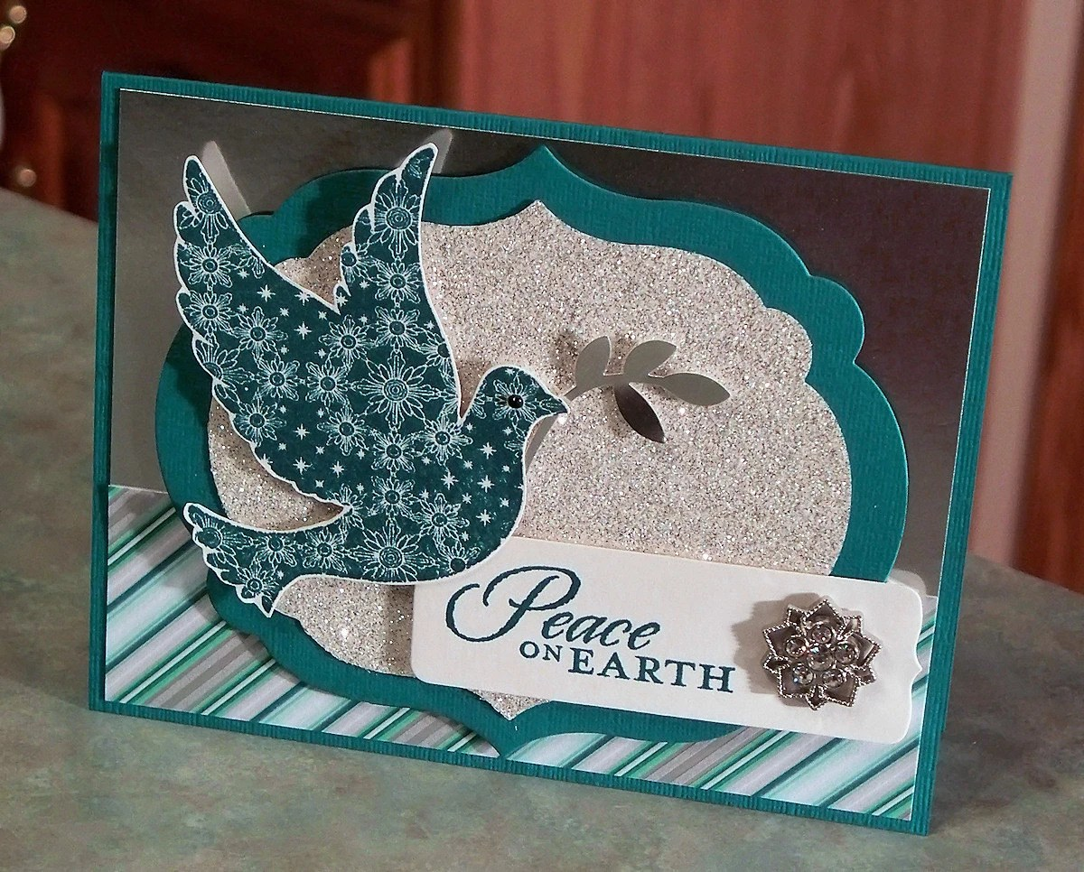 Stampin Up Calm Christmas Card Peace On Earth Dove