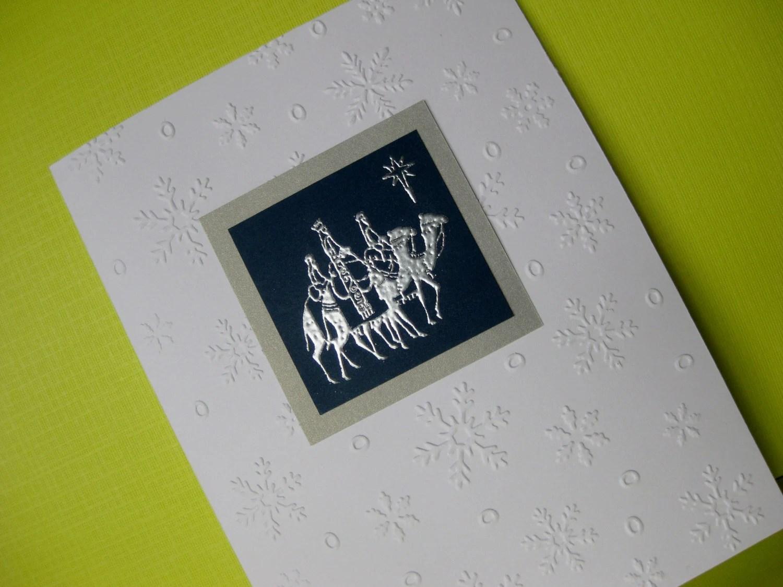 Items Similar To Handmade Embossed Christmas Card