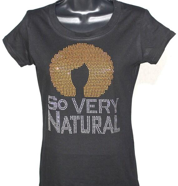 Rhinestones Shirts Hair T Natural