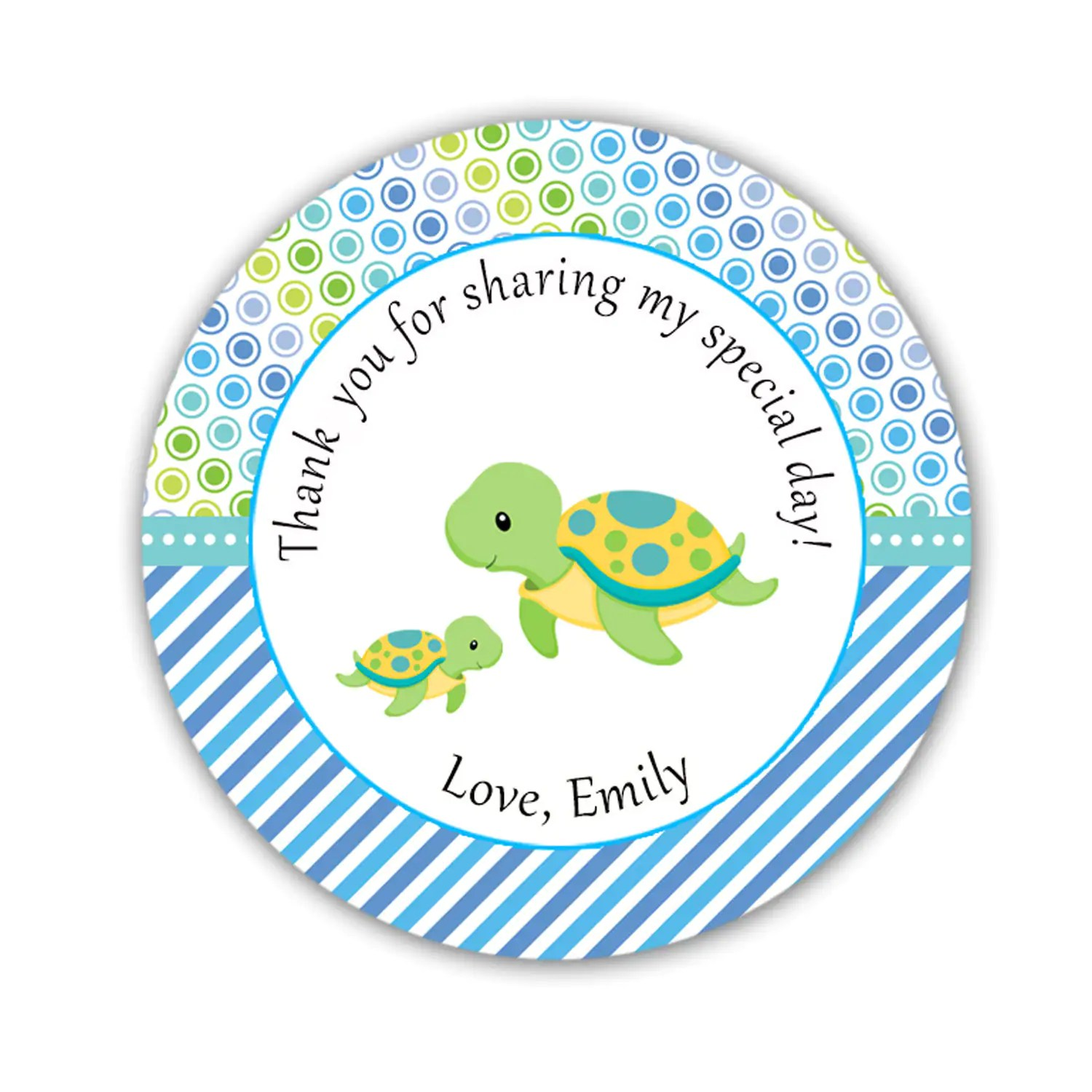 Turtle Labels Turtle Tags Turtle Baby Shower Stickers Turtle