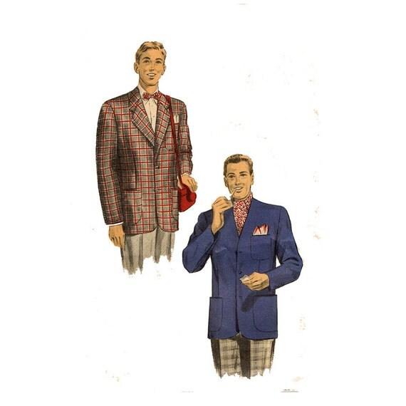Mens Smoking Jacket Sewing Pattern