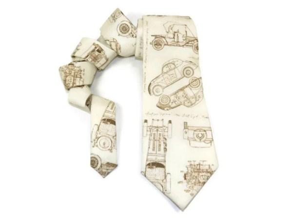 Auto tie, Car tie, Vintage cars, antique cars, auto blueprint tie, blueprint tie, mens tie, mens car tie, auto blueprint, fathers day tie