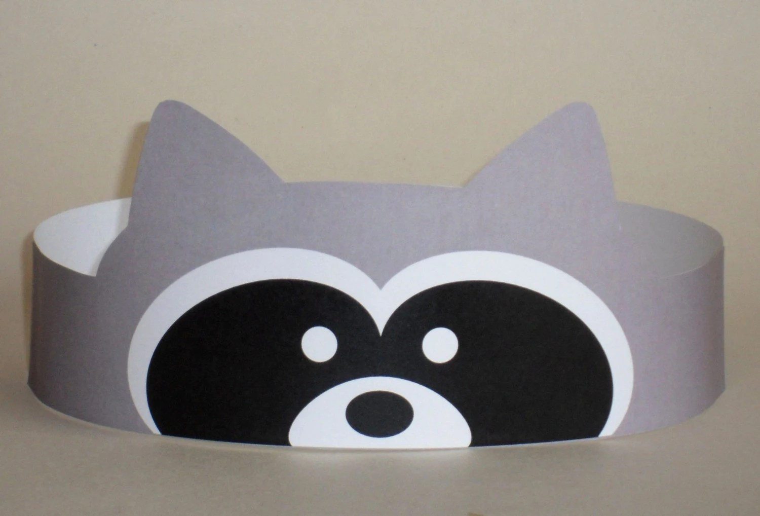 Raccoon Crown Printable