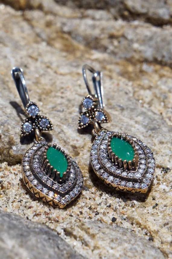 Rica Jewels California emerald earrings on etsy