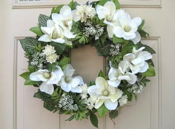 Magnolia Wreath Wedding Wreaths Wedding Decoration White
