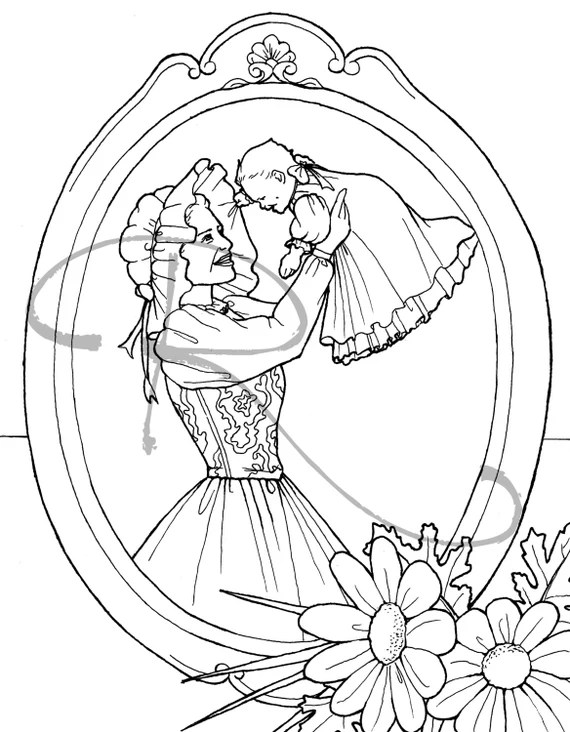 items similar to welcome baby ink illustration coloring
