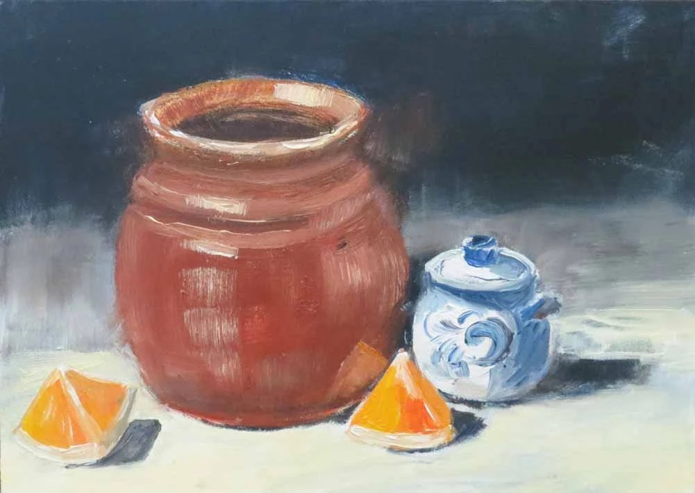 Pottery Still Life Oil Painting