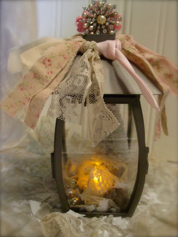 Items Similar To Shabby Chic Lantern Vintage Trims