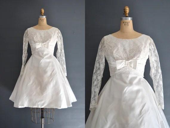 60s Short Wedding Dress / 1960s Dress / Rosie