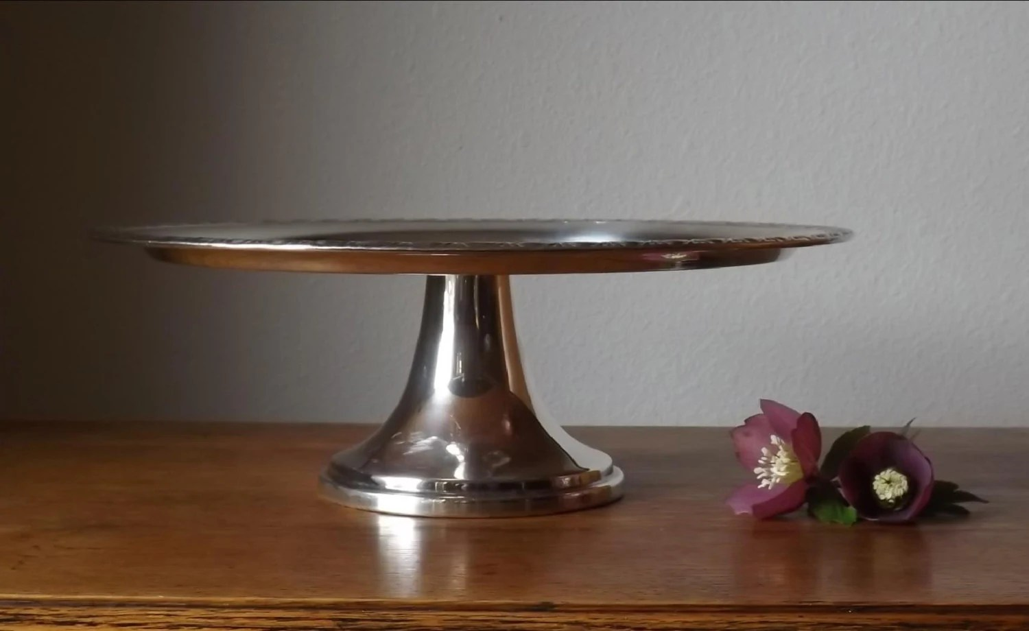 Silverplate Pedestal Cake Stand Wm Rogers 742 Wedding