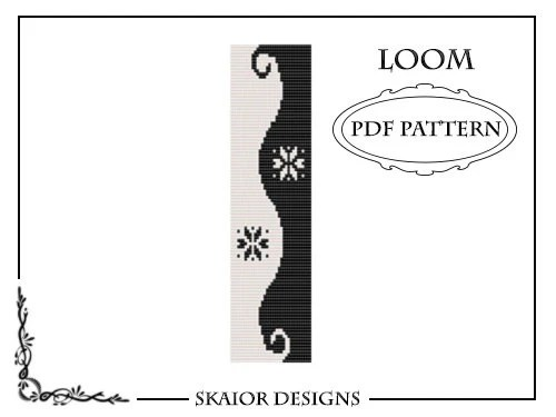 Two Tone Loom Bead Pattern Yin Yang Square Stitch Loom