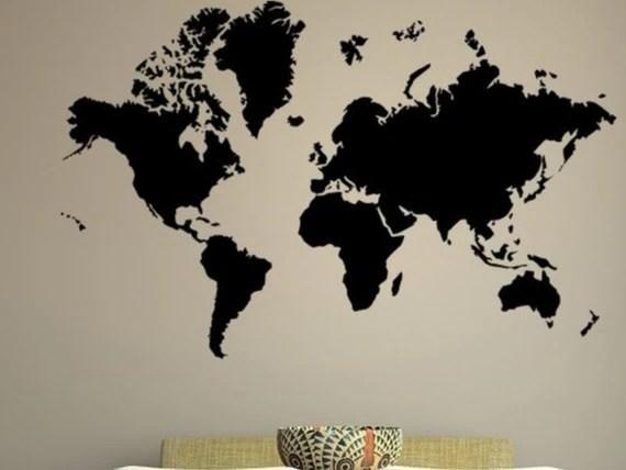 Vinyl World Map Decal by EmpireCityStudios