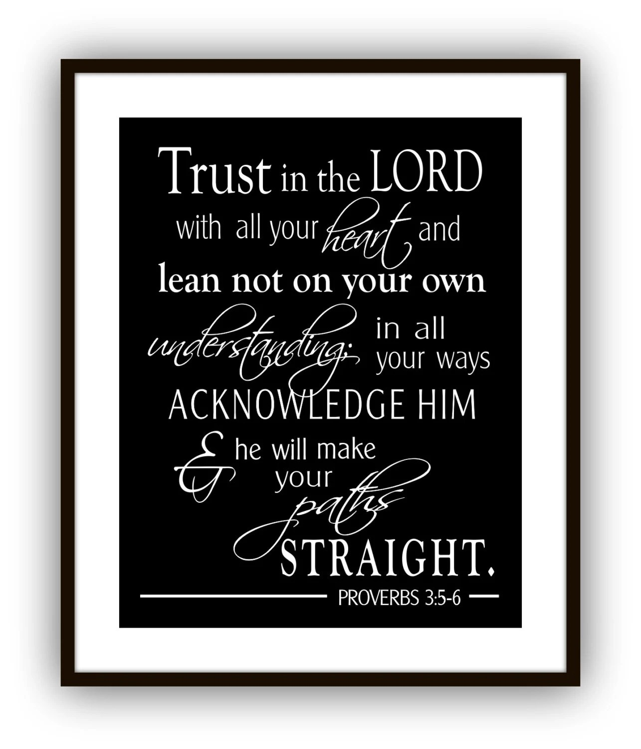 Proverbs 3 5 6 Trust In The Lord With All Your Heart
