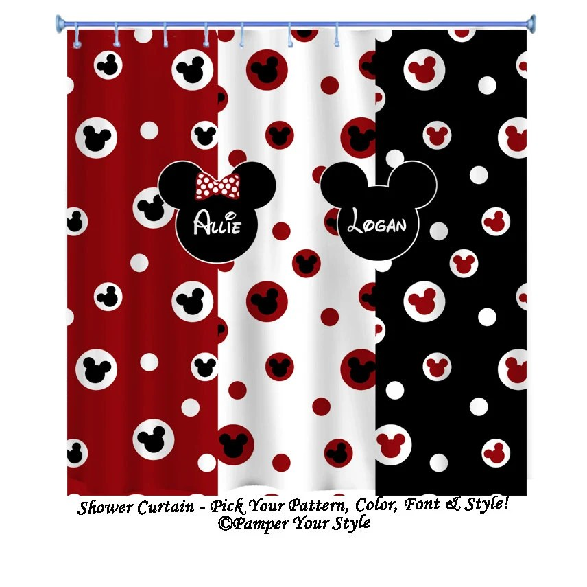 Minnie And Mickey Shower Curtain