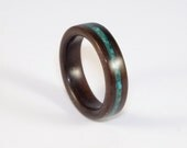 Ebony Bent Wood Ring with...