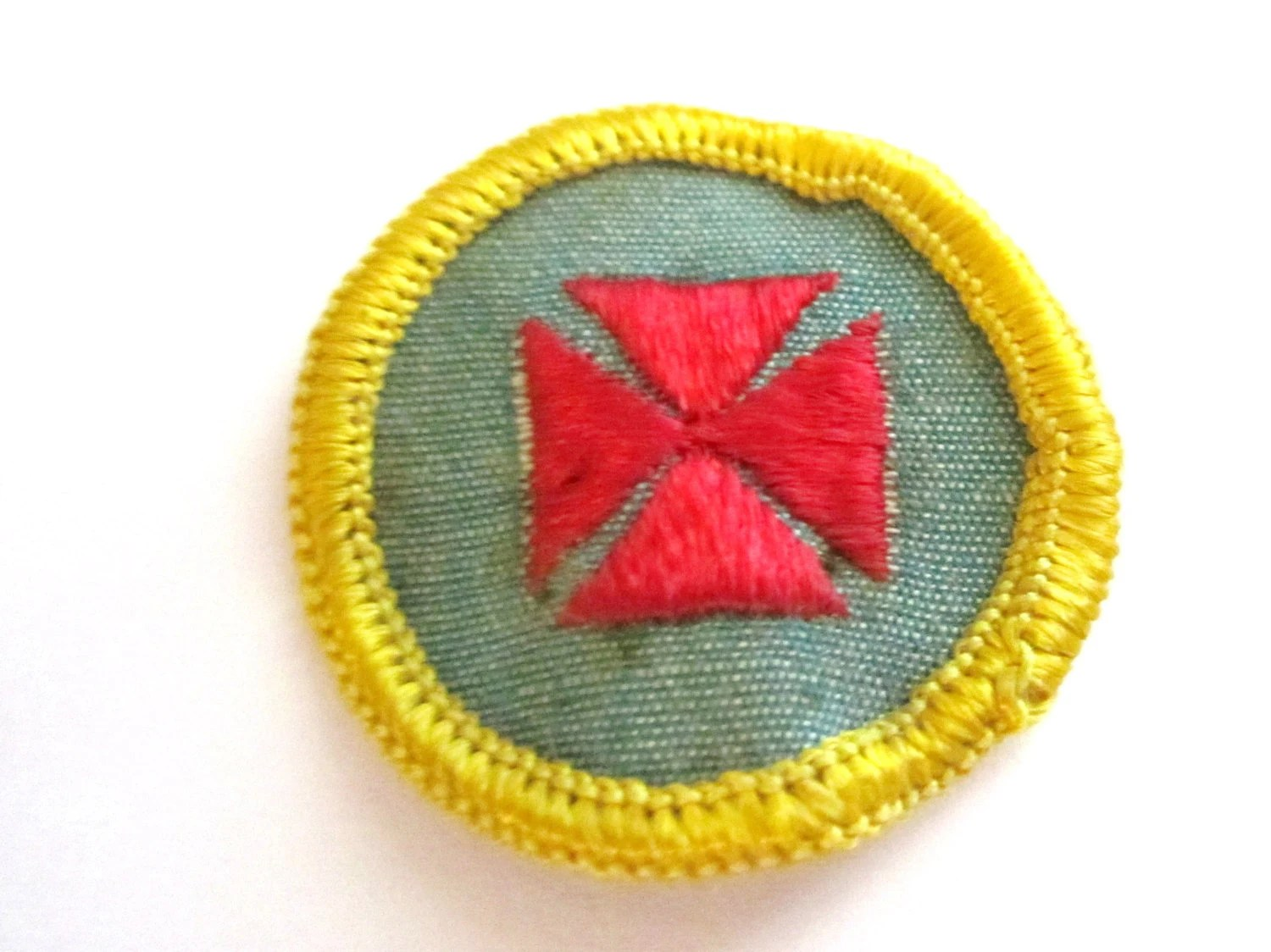 Vintage Cadette Girl Scout Badge 1st Aid Circa