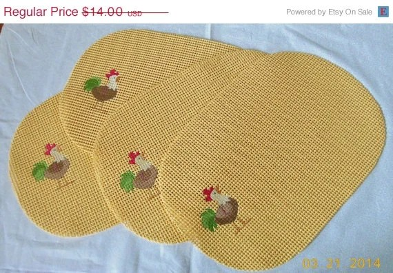 Rubber Waffle Placemats