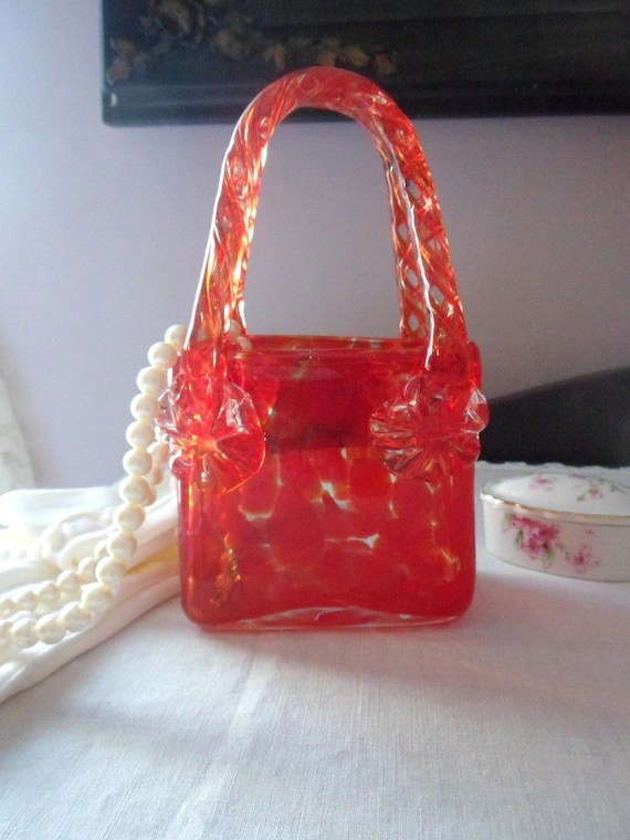 Murano Glass Purse Vase