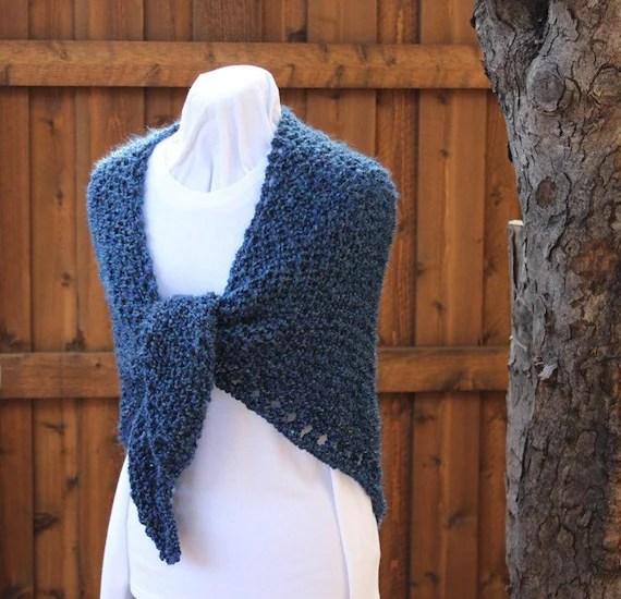 Homespun Knit Prayer Shawl Pattern